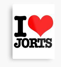 I <3 Jorts Metal Print