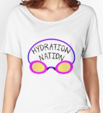 Hydration Nation Swimming Racing Goggles Women's Relaxed Fit T-Shirt