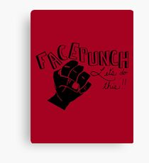 Facepunch: Let's Do This Canvas Print