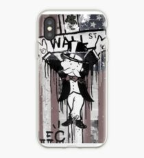 Wall St. Crucifix with American Flag iPhone Case