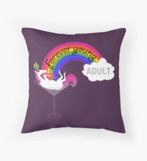 Forever Young Adult Official Logo Throw Pillow