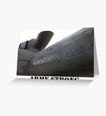 Army Helicopter  Greeting Card