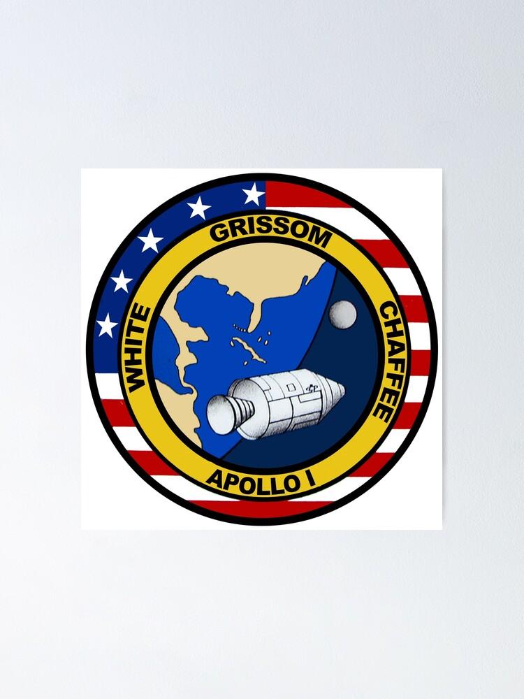 """""""apollo 1 mission logo"""" posterquatrosales  redbubble"""