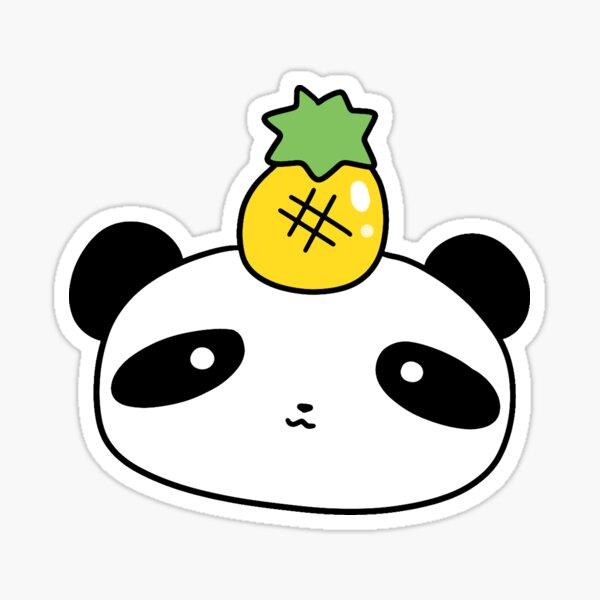 Cara de panda de piña Pegatina