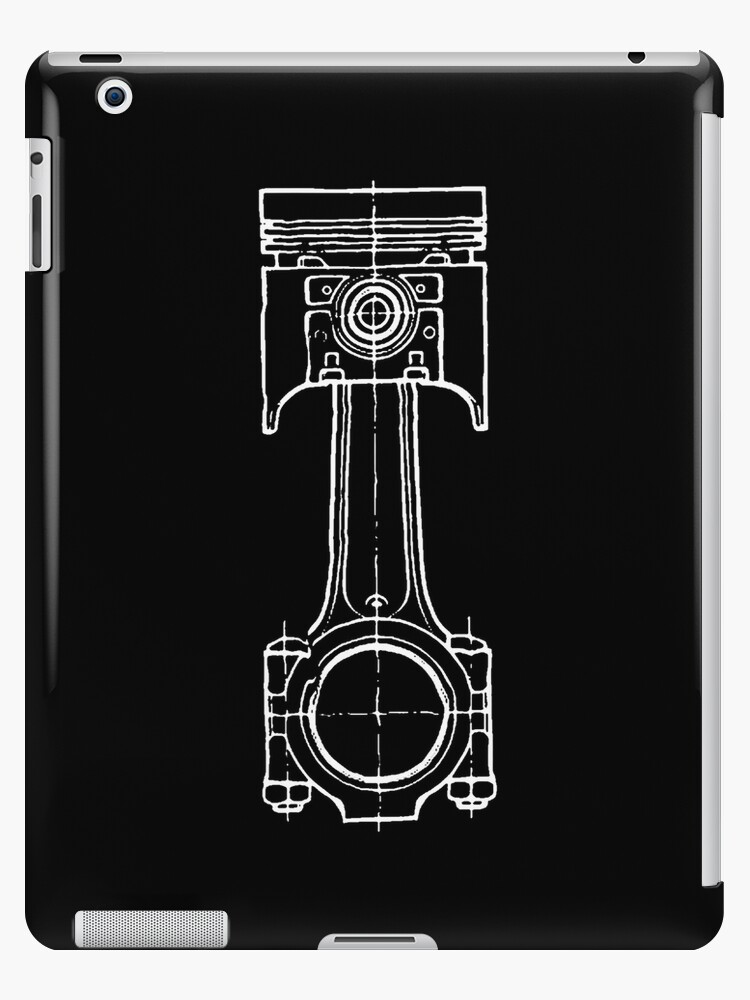 Piston blueprint ipad cases skins by driftwood7 redbubble piston blueprint by driftwood7 malvernweather Image collections