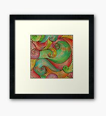 Funky Abstract Swirls Framed Print