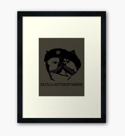 Hasta La Buttercup Siempre Framed Print