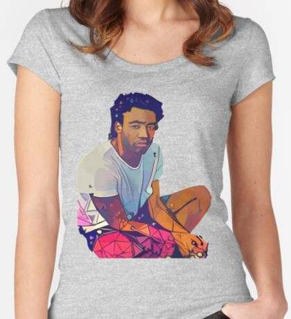 Candid Gambino Fitted Scoop T-Shirt