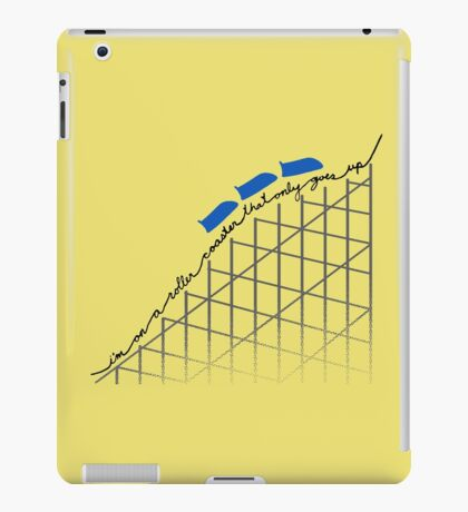 I'm On a Roller Coaster That Only Goes Up (Blue Cars) iPad Case/Skin