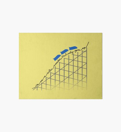 I'm On a Roller Coaster That Only Goes Up (Blue Cars) Art Board