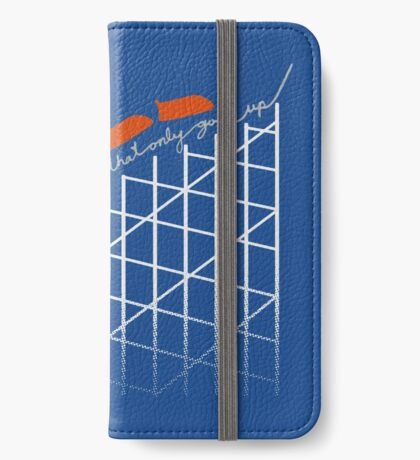I'm On a Roller Coaster That Only Goes Up (Orange Cars) iPhone Wallet