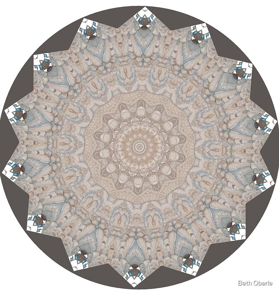 Rosslin Chapel Mandala #1 by Beth Oberle