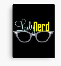 Proud LadyNerd (Grey Glasses) Canvas Print