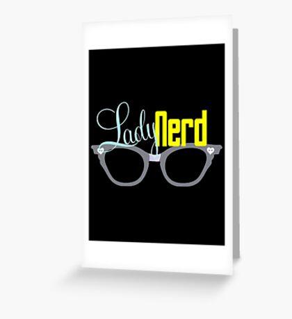 Proud LadyNerd (Grey Glasses) Greeting Card