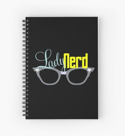 Proud LadyNerd (Grey Glasses) Spiral Notebook