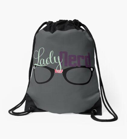 Proud LadyNerd (Black Glasses) Drawstring Bag