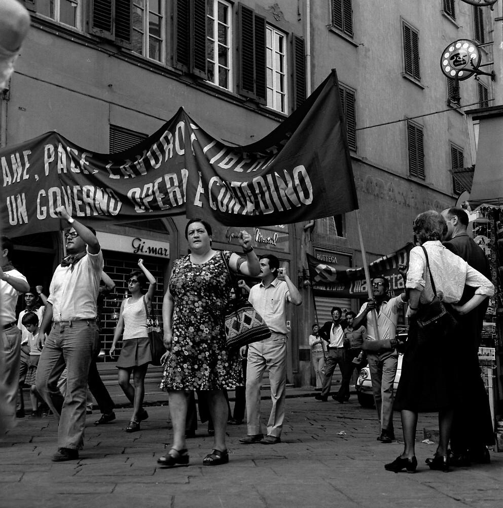 Demonstrators, Florence by david malcolmson