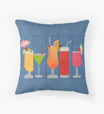 Fruit Drinks Throw Pillow