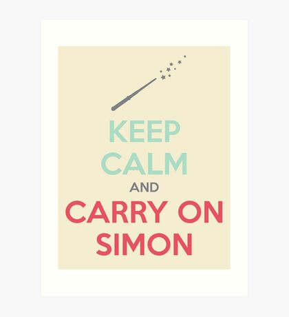 Keep Calm and Carry On Simon (Multi-Color Text) Art Print