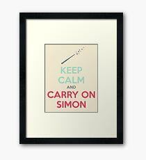 Keep Calm and Carry On Simon (Multi-Color Text) Framed Print