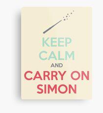 Keep Calm and Carry On Simon (Multi-Color Text) Metal Print