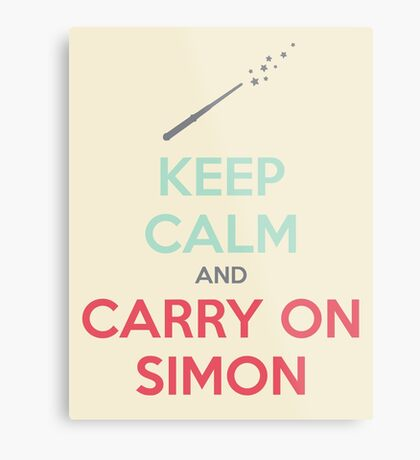 Keep Calm and Carry On Simon (Multi-Color Text) Metal Print
