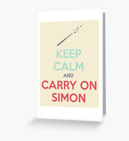 Keep Calm and Carry On Simon (Multi-Color Text) Greeting Card