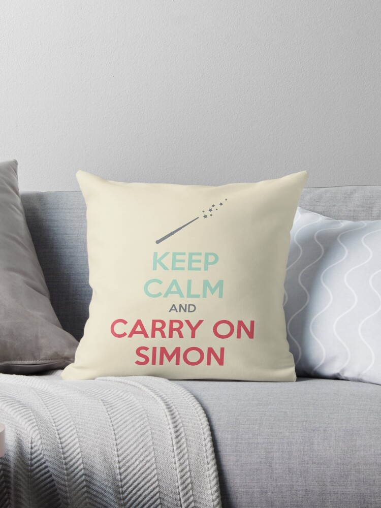 Keep Calm and Carry On Simon (Multi-Color Text) by 4everYA