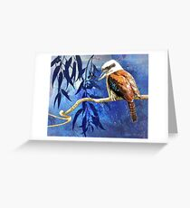 Kookaburra, hunting Greeting Card