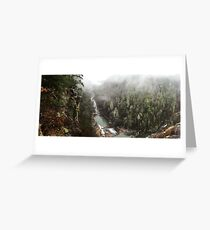 The Magestic Gorge Greeting Card