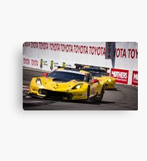 Team Corvette C7R Battling For First and Second! Canvas Print