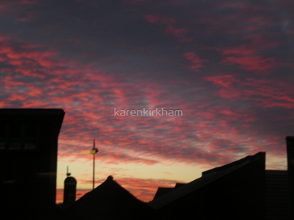Red sky in the morning by karenkirkham