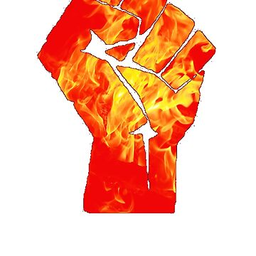 Deaf Cage - Flaming Power Fist by kdume