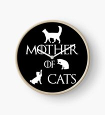 MOTHER OF CATS Clock