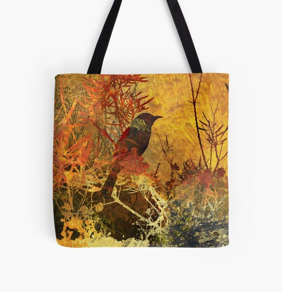 Autumn Honeyeater All Over Print Tote Bag