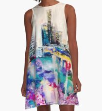 Purple Reign Brisbane City A-Line Dress