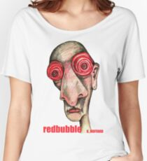 Insomniac w. redbubble logo Women's Relaxed Fit T-Shirt