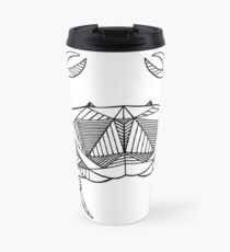 Geometric Cancer Crab Travel Mug