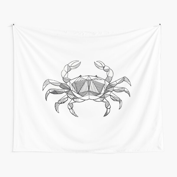 Geometric Cancer Crab Tapestry