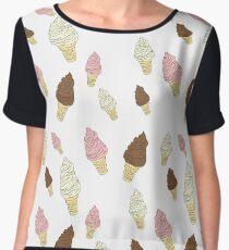 Neapolitan Ice Cream Cones Chiffon Top