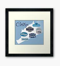 Visit Colby Framed Print