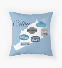 Visit Colby Throw Pillow
