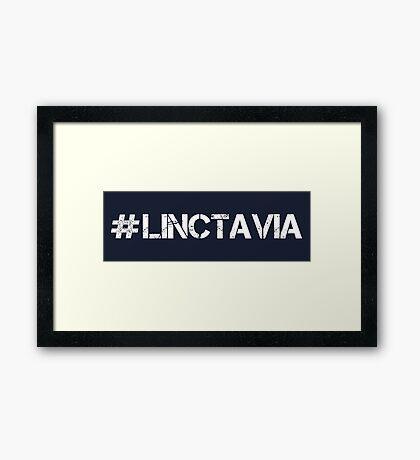 #LINCTAVIA (White Text) Framed Print