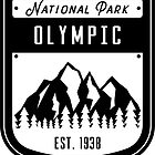 Olympisches Nationalpark Washington Abzeichen von nationalparks