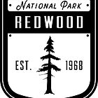 Redwood-Nationalpark-Kalifornien-Ausweis von nationalparks