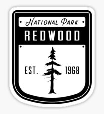 Redwood National Park California Badge Sticker
