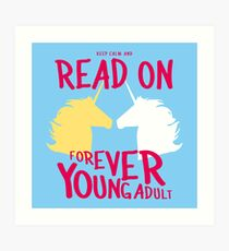 Keep Calm and Read On, FYA Art Print