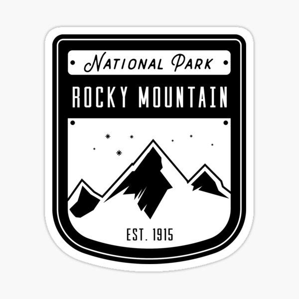 2 for 1 RMNP Rocky Mountain Ntl Park Est.1915 sticker decal Oval Black /& White