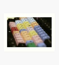 Avid Keyboard Medium Shot Art Print