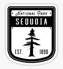 Sequoia National Park California Badge Sticker